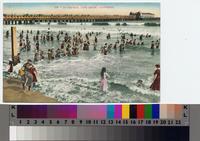 """""""In the Surf, Long Beach, California"""" ca. 1906"""