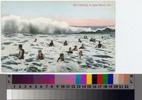 """Surf Bathing at Long Beach, Cal."""