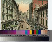 """""""West Third St. from Main, Showing Angel's Flight & Tunnel, Los Angeles,..."""