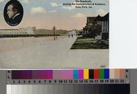 """The Broadwalk, showing Nat Goodwin's Cafe & Residence, Ocean Park, Cal."",..."