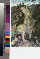 """Great Incline, Mt. Lowe, California, 3000 ft. long, 1300 ft. rise"", ca. 1900..."