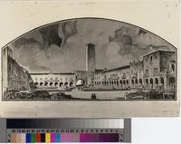 Architect's rendering of proposed Valmonte Plaza, Palos Verdes Estates.