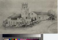 Architectural drawing for Malaga Cove School, Palos Verdes Estates, California...