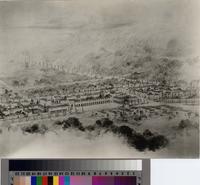 Artists' sketch of Malaga Cove Plaza, Palos Verdes Estates.