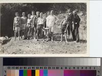 Boy Scout troop on Santa Catalina Island, California.
