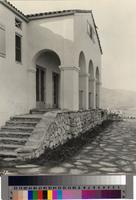 """""""Porch of the [Palos Verdes] Golf Clubhouse, Which Overlooks the Course."""""""