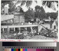 Building demolition, Rolling Hills Estates, California