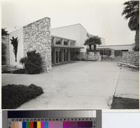 Butler Hall auditorium building, Marymount College, Rancho Palos Verdes, California...
