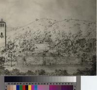 Artist's sketch of Farnham Martin's Park, Palos Verdes Estates, California...