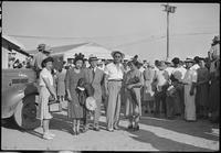 """""""Colorado River Relocation Center, Poston, Arizona. Left to Right: Mr. and Mrs...."""