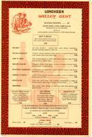 """Gallery West Luncheon"" menu"