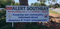 """""""Alert SouthBay Opt-in"""" sign"""