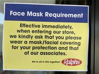"""""""Face Mask Requirement"""" sign"""