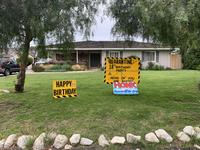 """18th birthday quarantine"" signs"
