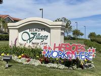 """Heroes Work Here"" sign"